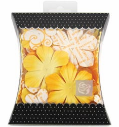 Prima: Mulberry Paper Flowers - Yellow (S/O)