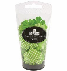 Prima: Petal Palette Mulberry Paper Flowers - Lime Green (E)