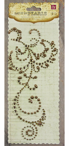 Prima: Say it in Pearls & Crystals Swirl - Brown - S/O