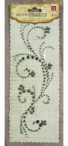 Prima: Say it in Pearls & Crystals Swirl - Pewter - S/O