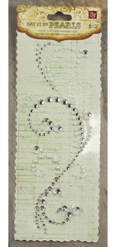 Prima: Say it in Pearls & Crystals Swirl - White - S/O