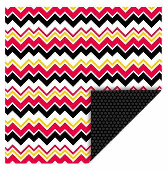 Queen & Co - Magic - 12x12 Double Sided Paper - Chevrons - S/O