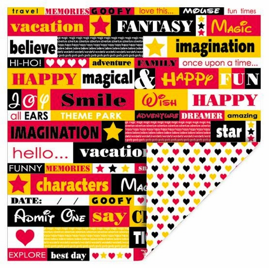 Queen & Co - Magic - 12x12 Double Sided Paper - Phrases - S/O