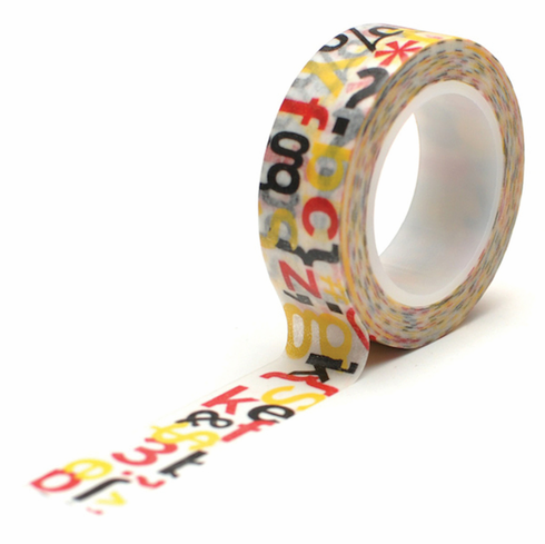 Queen & Co - Magic Trendy Tape 15mm X 10yds - Word Jumble