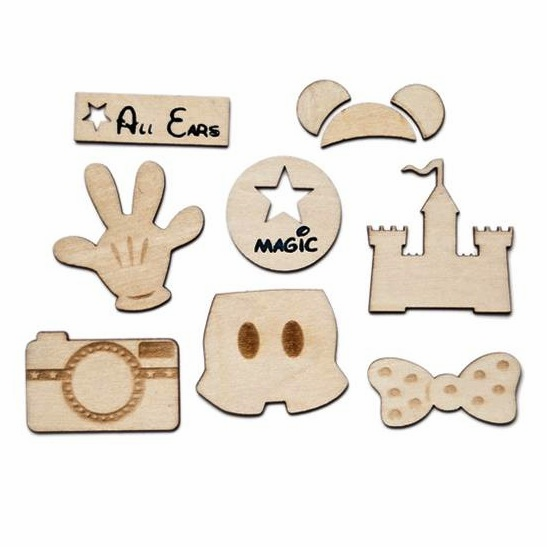 Queen & Co - Magic - Woodies Laser Cut Shapes 6/Pkg