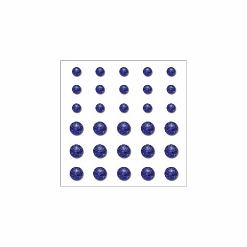 Queen & Co: Rox Ice Self-Adhesive Stones 30/Pkg - Brilliant Blue