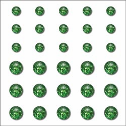 Queen & Co: Rox Ice Self-Adhesive Stones 30/Pkg - Grass Green