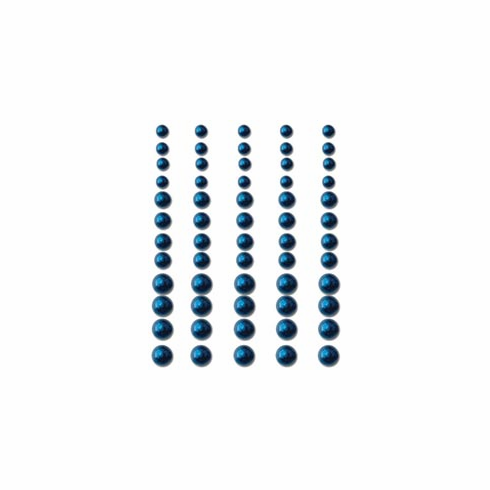 Queen & Co: Self-Adhesive Pearls 60/Pkg - Brilliant Blue S/O