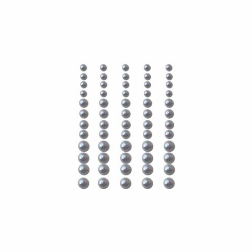 Queen & Co - Self-Adhesive Pearls 60/Pkg - Silver