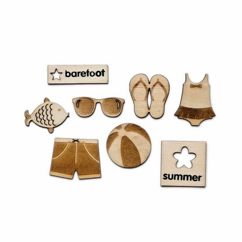 Queen & Co - Summer - Woodies Laser Cut Shapes - S/O