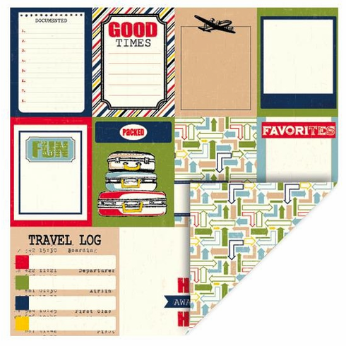 Queen & Co - Travel - 12x12 Double Sided Paper - Tags