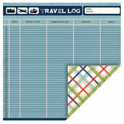 Queen & Co - Travel - 12x12 Double Sided Paper - Travelog