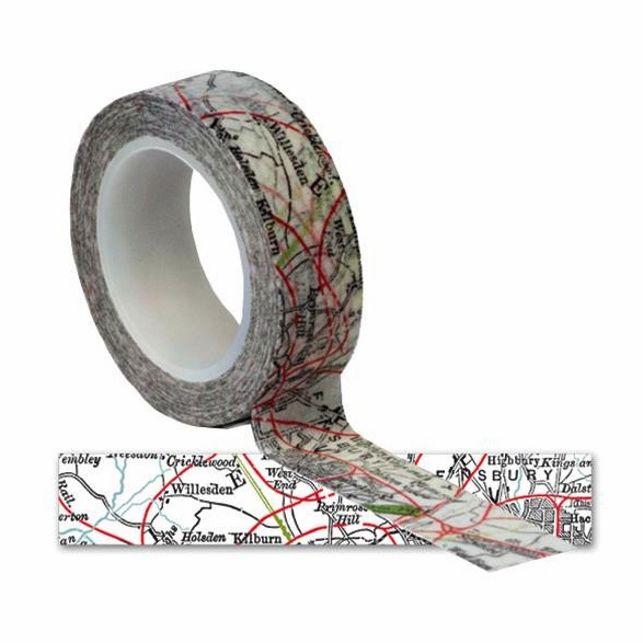 Queen & Co - Travel Trendy Tape - Map - S/O