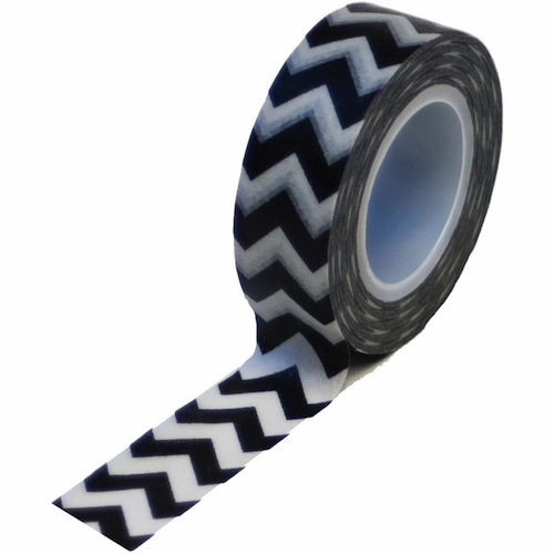 Queen & Co - Trendy Tape - Chevron Black