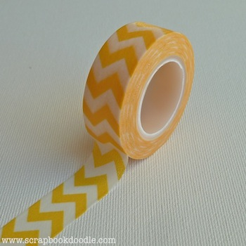 Queen & Co - Trendy Tape - Chevron Yellow
