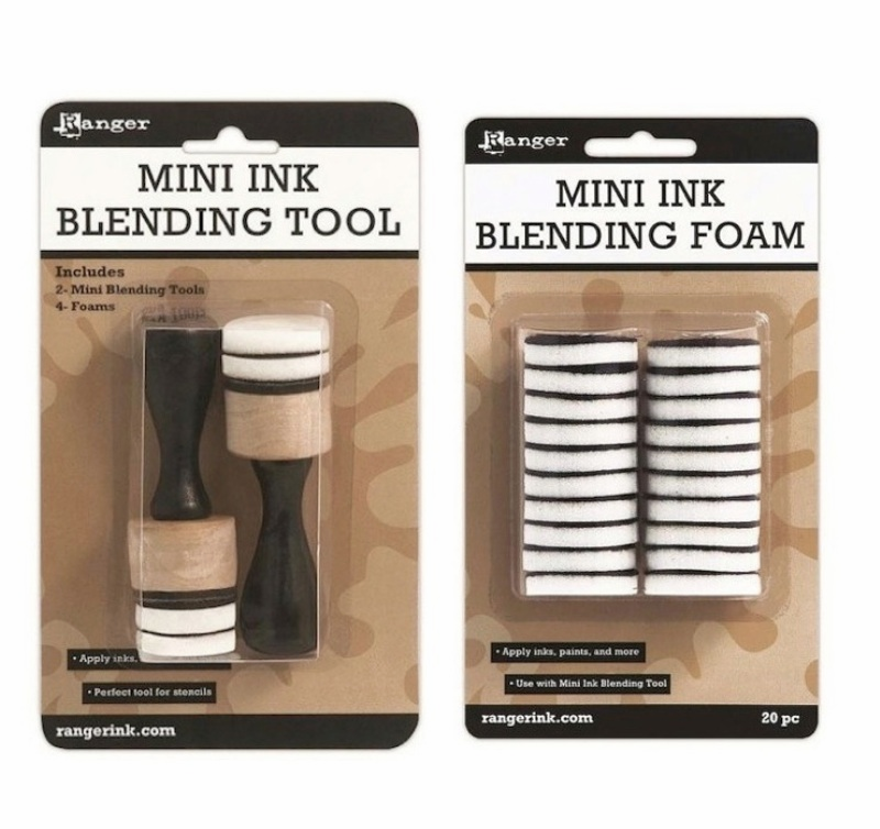 Ranger Tim Holtz Mini Ink Blending Tool and Blending Replacement Foams Set