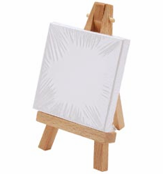Reeves: Mini Canvas And Easel