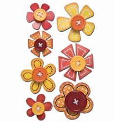 Sassafras Lass: In A Stitch Blossom - Orange 7/Pkg - S/O