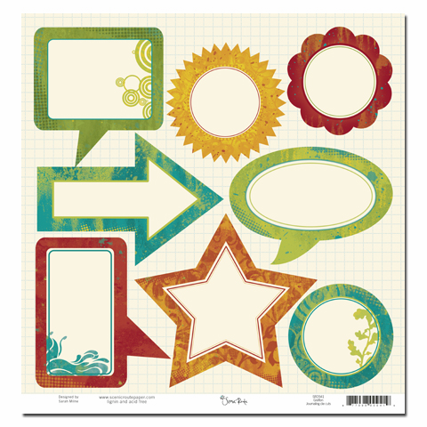 Scenic Route Grafton Die Cut Journaling Shapes