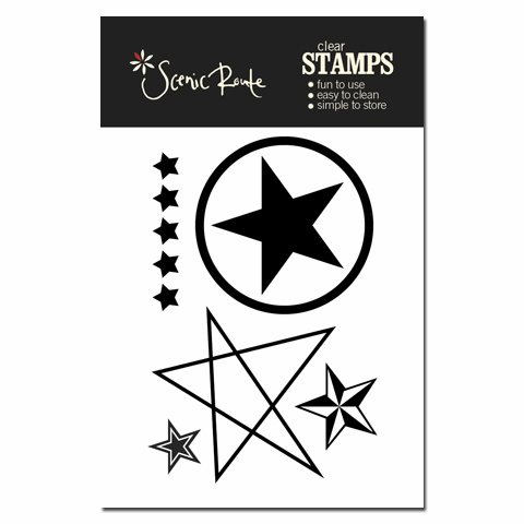 Scenic Route: Liberty - Star Clear Acrylic Stamps