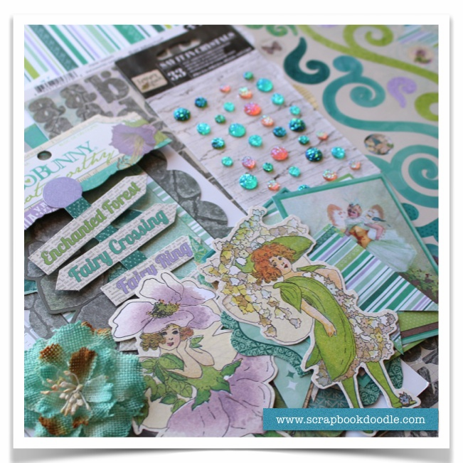 Scrapbook Kit - Enchanted Garden - SOLD OUT