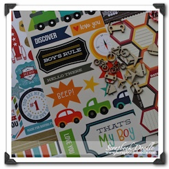 Scrapbook Kit - That's My Boy - SOLD OUT