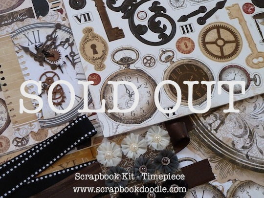 Scrapbook Kit - Timepiece - SOLD OUT