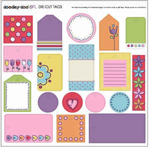 SEI:  Doodley-doo Girl - Die Cut Tags