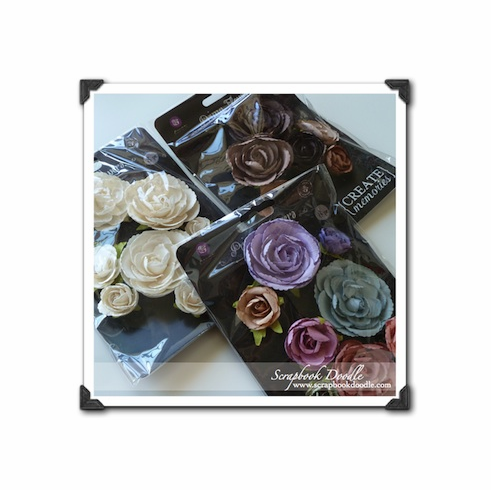 Set of 3 - Prima - Charlotte Mulberry Paper Flowers - S/O
