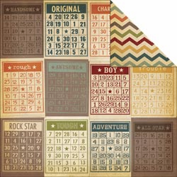Simple Stories: Awesome - Bingo Cards/Chevron - S/O