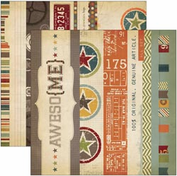 """Simple Stories: Awesome - Elements 12""""X12"""" - Borders & Title Strips - S/O"""