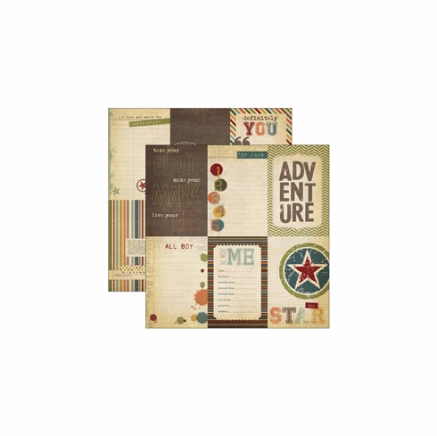 "Simple Stories: Awesome - Elements 12""X12"" - Vertical Journaling - S/O"