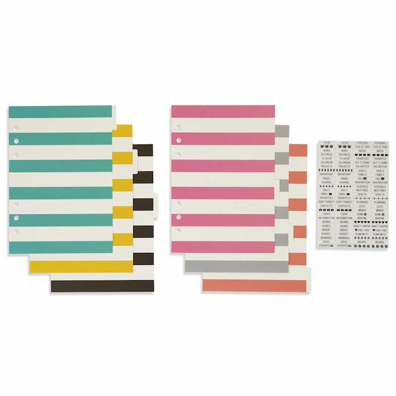 Simple Stories Carpe Diem A5 Basic Dividers with Clear Label Stickers (E*)