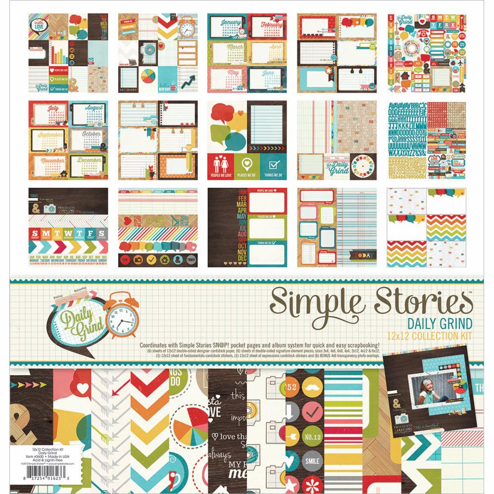 Simple Stories - Daily Grind - Collection Kit 12x12 - S/O