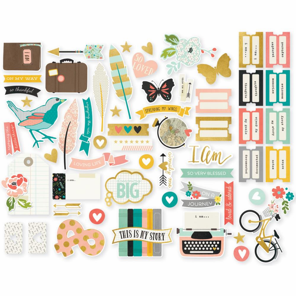 Simple Stories I Am Bits & Pieces Die-Cuts - S/O