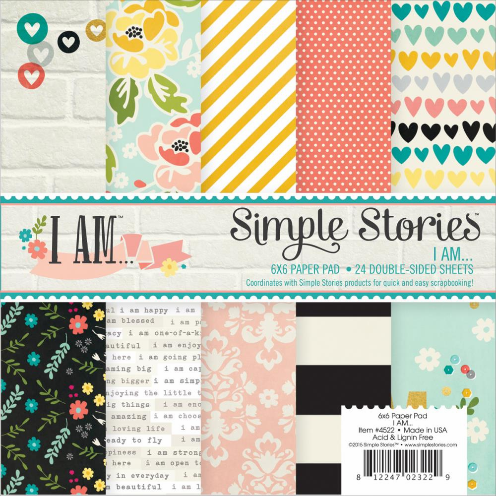 Simple Stories I AM Paper Pad 6x6 - S/O