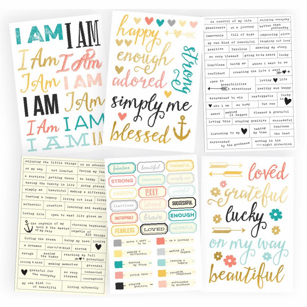 Simple Stories I Am Sentiment Stickers - S/O