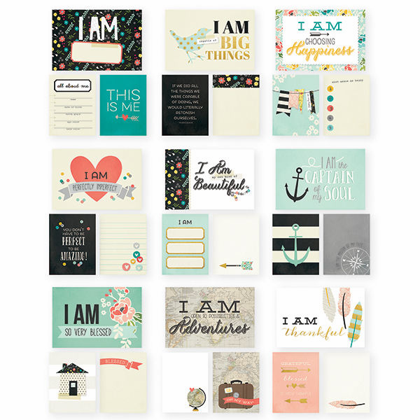 Simple Stories I Am Sn@p! Cards (3x4 & 4x6) with Gold Foil Accents (E)