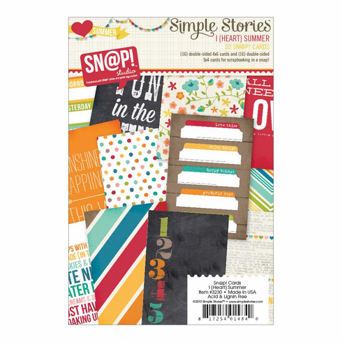 Simple Stories - I Heart Summer - Sn@p! Cards (E*)