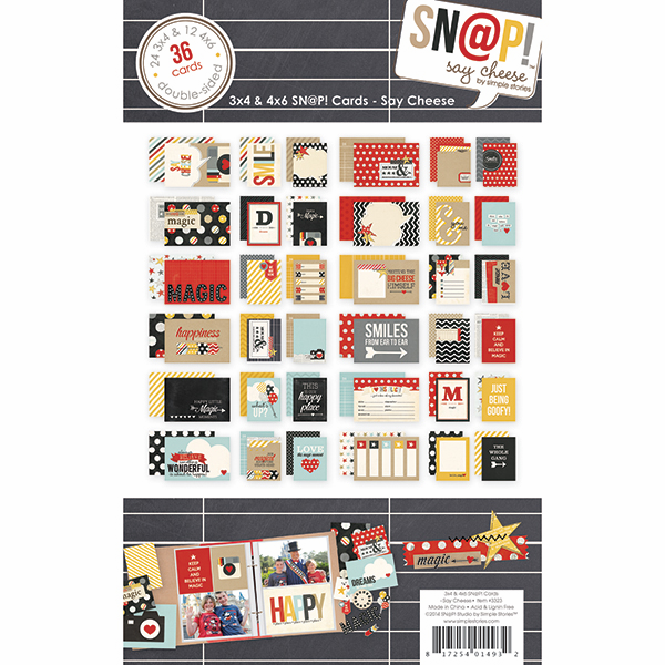 Simple Stories - Say Cheese - 3x4 & 4x6 SN@P! Cards - S/O