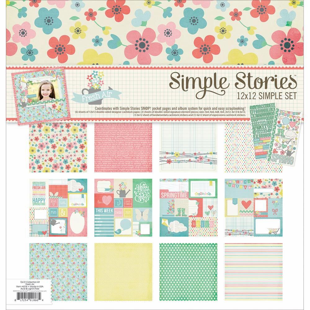 Simple Stories - Simple Set 12x12 - Fresh Air Collection Kit (S/O)