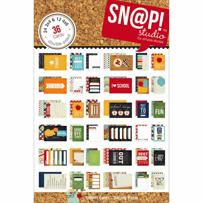 "Simple Stories - Smarty Pants - 4""X6"" Sn@p! Cards - S/O"