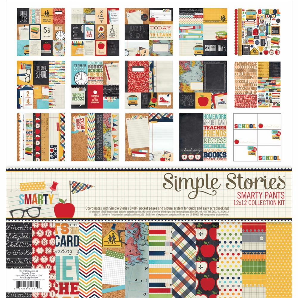 Simple Stories - Smarty Pants - Collection Kit 12x12 (S/O)