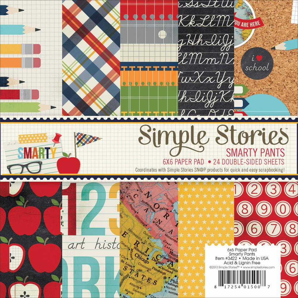 Simple Stories - Smarty Pants - Paper Pad 6x6 - S/O