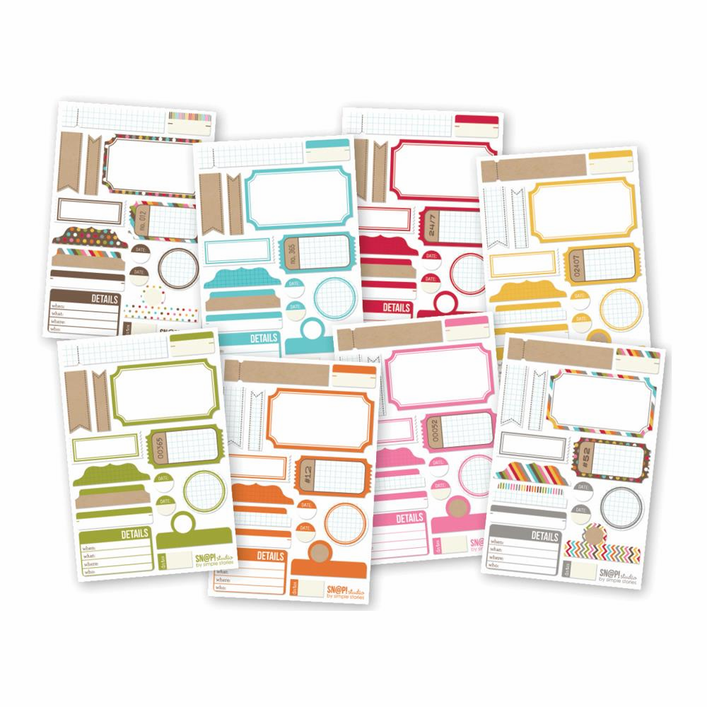 Simple Stories - Sn@p! - Cardstock Stickers - Labels