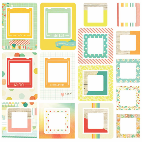 Simple Stories Summer Vibes Chipboard Frames (E*)