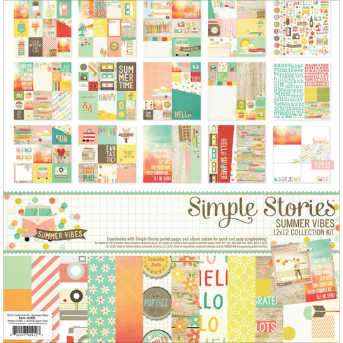 Simple Stories Summer Vibes Collection Kit 12x12 - S/O