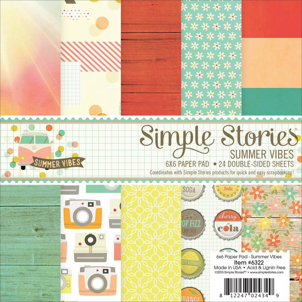 Simple Stories Summer Vibes Paper Pad 6x6 - S/O