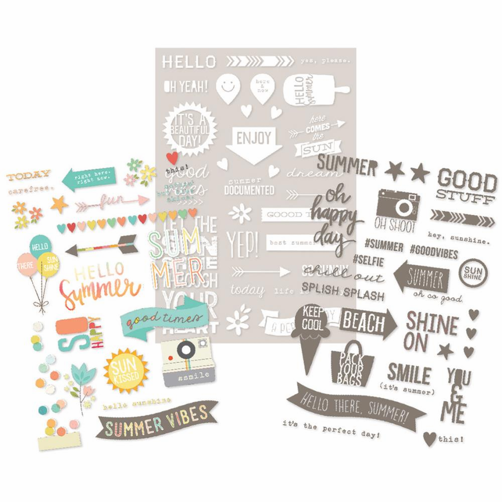 Simple Stories Summer Vibes Photo Stickers - S/O