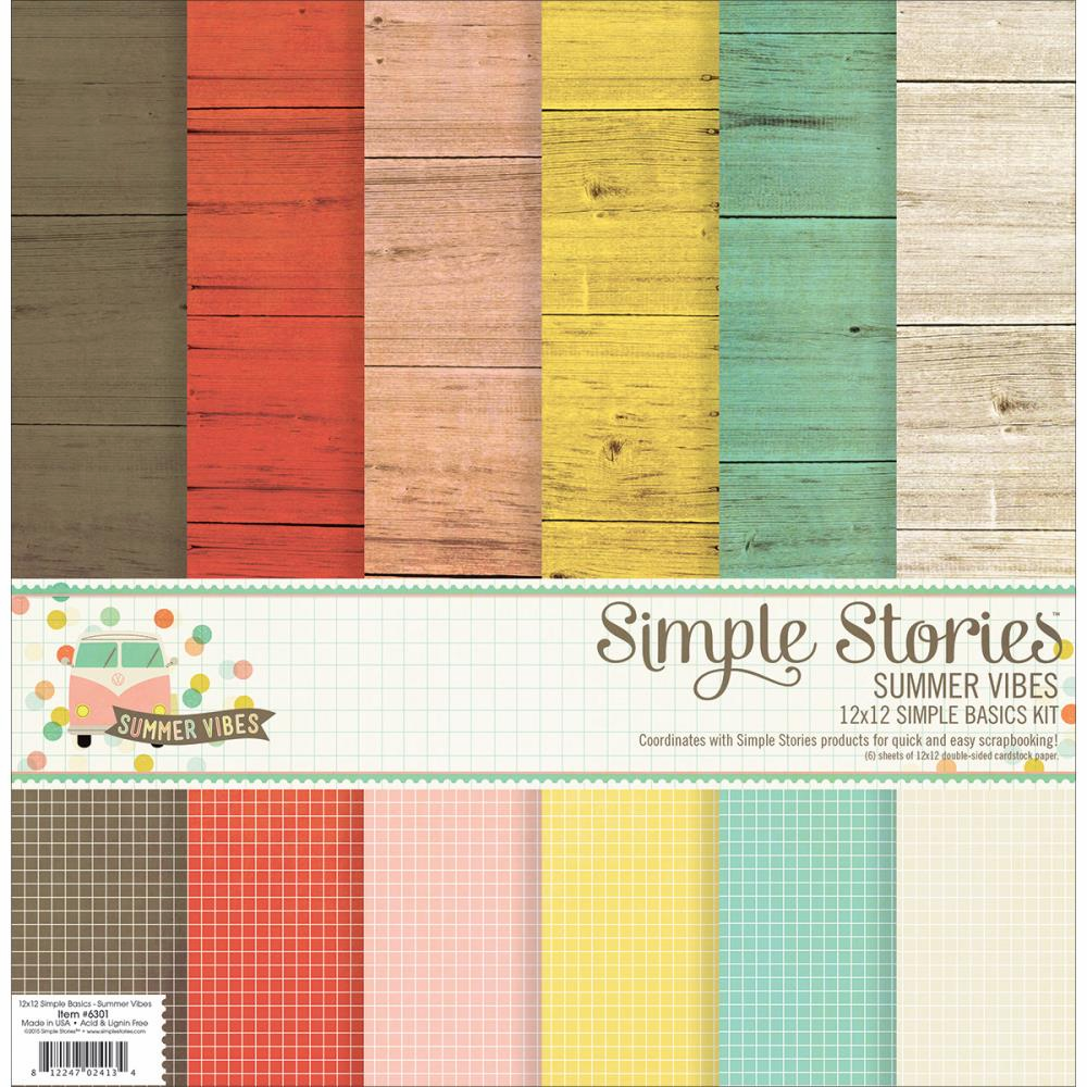 Simple Stories Summer Vibes Simple Basic Kit 12x12 - S/O